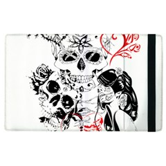 Skull Love Affair Apple Ipad 3/4 Flip Case by vividaudacity
