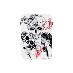 Skull Love Affair Apple Ipad Mini Protective Sleeve by vividaudacity
