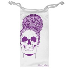 Purple Skull Bun Up Jewelry Bag by vividaudacity