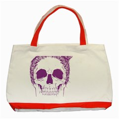 Purple Skull Bun Up Classic Tote Bag (red) by vividaudacity