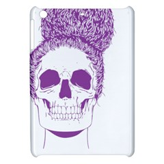 Purple Skull Bun Up Apple Ipad Mini Hardshell Case by vividaudacity