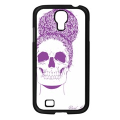 Purple Skull Bun Up Samsung Galaxy S4 I9500/ I9505 Case (black) by vividaudacity