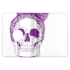 Purple Skull Bun Up Kindle Fire Hdx Flip 360 Case by vividaudacity