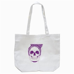 Purple Skull Bun Up Tote Bag (white) by vividaudacity