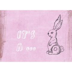 Bunnycardgirl By Elfie   Girl 3d Greeting Card (7x5)   S4tn1qvdw9qd   Www Artscow Com Front