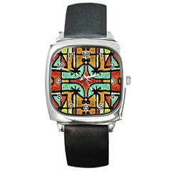 Lap Square Leather Watch by dflcprints