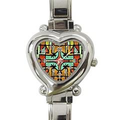 Lap Heart Italian Charm Watch  by dflcprints
