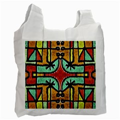 Lap White Reusable Bag (one Side) by dflcprints