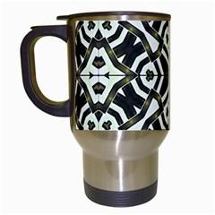 Abstract Geometric Modern Pattern  Travel Mug (white) by dflcprints