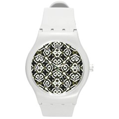 Abstract Geometric Modern Pattern  Plastic Sport Watch (medium) by dflcprints