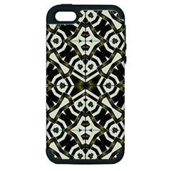 Abstract Geometric Modern Pattern  Apple Iphone 5 Hardshell Case (pc+silicone) by dflcprints