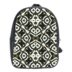 Abstract Geometric Modern Pattern  School Bag (XL) by dflcprints