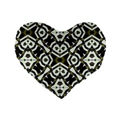 Abstract Geometric Modern Pattern  16  Premium Heart Shape Cushion  by dflcprints