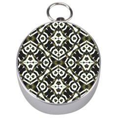 Abstract Geometric Modern Pattern  Silver Compass by dflcprints