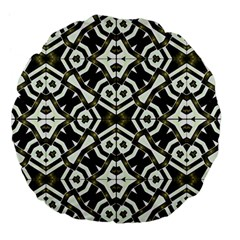 Abstract Geometric Modern Pattern  18  Premium Flano Round Cushion  by dflcprints