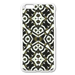 Abstract Geometric Modern Pattern  Apple Iphone 6 Plus Enamel White Case by dflcprints