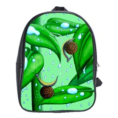 Playing In The Rain School Bag (XL) by retz