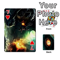 Jaden By Shawn Erickson   Playing Cards 54 Designs (rectangle)   5au6hooh2ivm   Www Artscow Com Front - Heart7