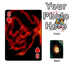 Jaden By Shawn Erickson   Playing Cards 54 Designs (rectangle)   5au6hooh2ivm   Www Artscow Com Front - Heart8