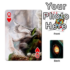 Queen Jaden By Shawn Erickson   Playing Cards 54 Designs (rectangle)   5au6hooh2ivm   Www Artscow Com Front - HeartQ