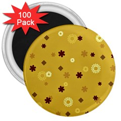 Abstract Geometric Shapes Design In Warm Tones 3  Button Magnet (100 Pack) by dflcprints