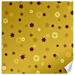 Abstract Geometric Shapes Design In Warm Tones Canvas 20  X 20  (unframed) by dflcprints