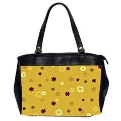 Abstract Geometric Shapes Design In Warm Tones Oversize Office Handbag (two Sides) by dflcprints