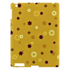 Abstract Geometric Shapes Design In Warm Tones Apple Ipad 3/4 Hardshell Case by dflcprints