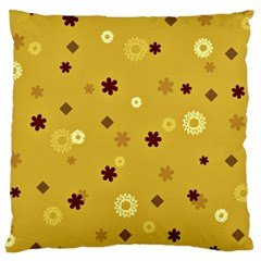 Abstract Geometric Shapes Design In Warm Tones Large Cushion Case (single Sided)  by dflcprints