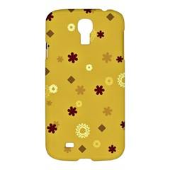 Abstract Geometric Shapes Design In Warm Tones Samsung Galaxy S4 I9500/i9505 Hardshell Case by dflcprints