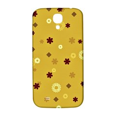 Abstract Geometric Shapes Design In Warm Tones Samsung Galaxy S4 I9500/i9505  Hardshell Back Case by dflcprints