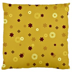 Abstract Geometric Shapes Design In Warm Tones Standard Flano Cushion Case (two Sides) by dflcprints