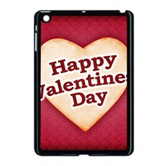 Heart Shaped Happy Valentine Day Text Design Apple Ipad Mini Case (black) by dflcprints
