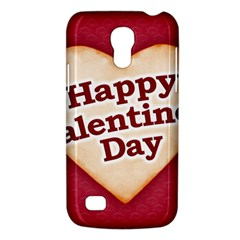 Heart Shaped Happy Valentine Day Text Design Samsung Galaxy S4 Mini (gt I9190) Hardshell Case  by dflcprints