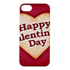 Heart Shaped Happy Valentine Day Text Design Apple Iphone 5s Hardshell Case by dflcprints
