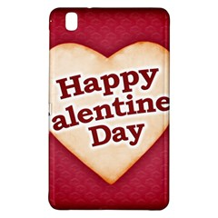 Heart Shaped Happy Valentine Day Text Design Samsung Galaxy Tab Pro 8 4 Hardshell Case