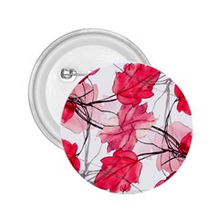 Floral Print Swirls Decorative Design 2 25  Button by dflcprints