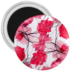 Floral Print Swirls Decorative Design 3  Button Magnet by dflcprints
