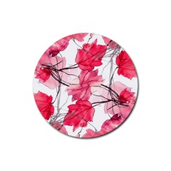 Floral Print Swirls Decorative Design Drink Coasters 4 Pack (round) by dflcprints