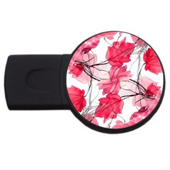 Floral Print Swirls Decorative Design 4gb Usb Flash Drive (round) by dflcprints
