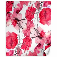 Floral Print Swirls Decorative Design Canvas 16  X 20  (unframed) by dflcprints