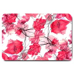 Floral Print Swirls Decorative Design Large Door Mat by dflcprints