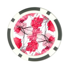 Floral Print Swirls Decorative Design Poker Chip (10 Pack) by dflcprints
