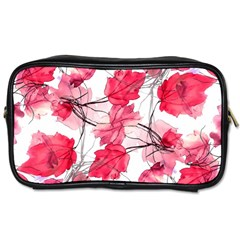 Floral Print Swirls Decorative Design Travel Toiletry Bag (two Sides) by dflcprints