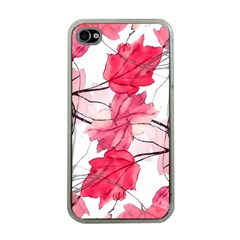 Floral Print Swirls Decorative Design Apple Iphone 4 Case (clear) by dflcprints