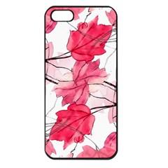 Floral Print Swirls Decorative Design Apple Iphone 5 Seamless Case (black) by dflcprints