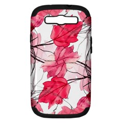 Floral Print Swirls Decorative Design Samsung Galaxy S Iii Hardshell Case (pc+silicone) by dflcprints