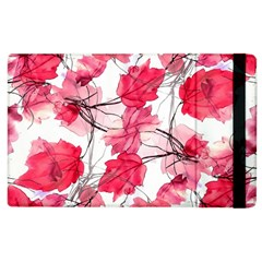 Floral Print Swirls Decorative Design Apple Ipad 3/4 Flip Case by dflcprints