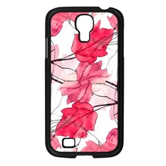 Floral Print Swirls Decorative Design Samsung Galaxy S4 I9500/ I9505 Case (black) by dflcprints