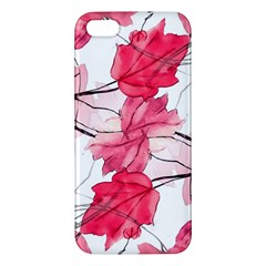 Floral Print Swirls Decorative Design Iphone 5s Premium Hardshell Case by dflcprints